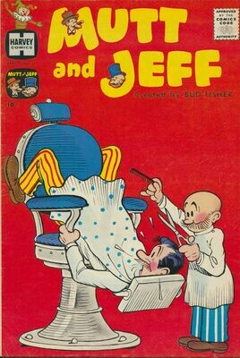 Mutt And Jeff #117 (Harvey April 1960) Includes Richie Rich story - Fine.
