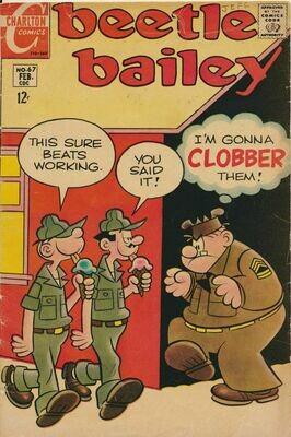 Beetle Bailey Vol. 2 No. 67 (1969) Charlton Comics
