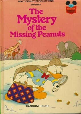 Disney's The Mystery of the Missing Peanuts Random House Book 1975