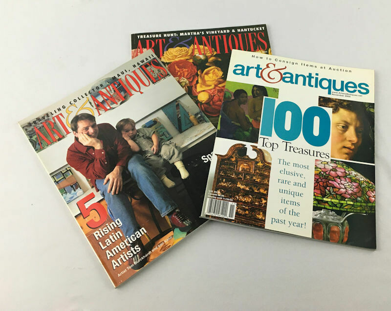 ART & ANTIQUES MAGAZINE – 3 Issue LOT, Feb 2001, Summer 2002, Nov 2005