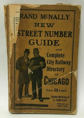 1924 Rand McNally Street Number Guide and Complete City Railway Directory of Chicago