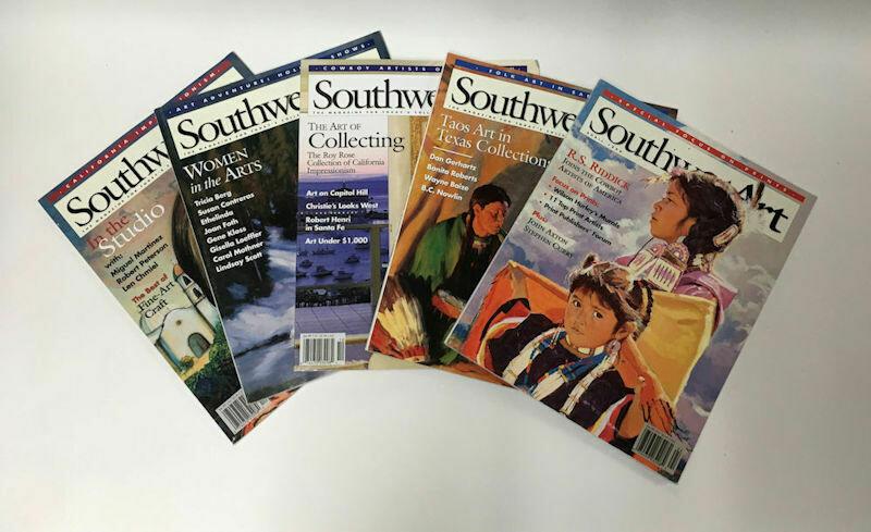 Lot of 5 Southwest Art Magazines 1998 Used