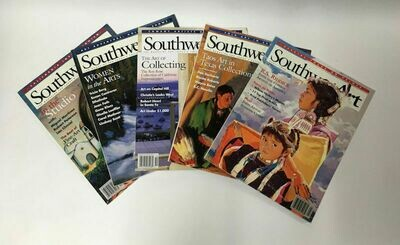 Lot of 5 Southwest Art Magazines 1998 Used