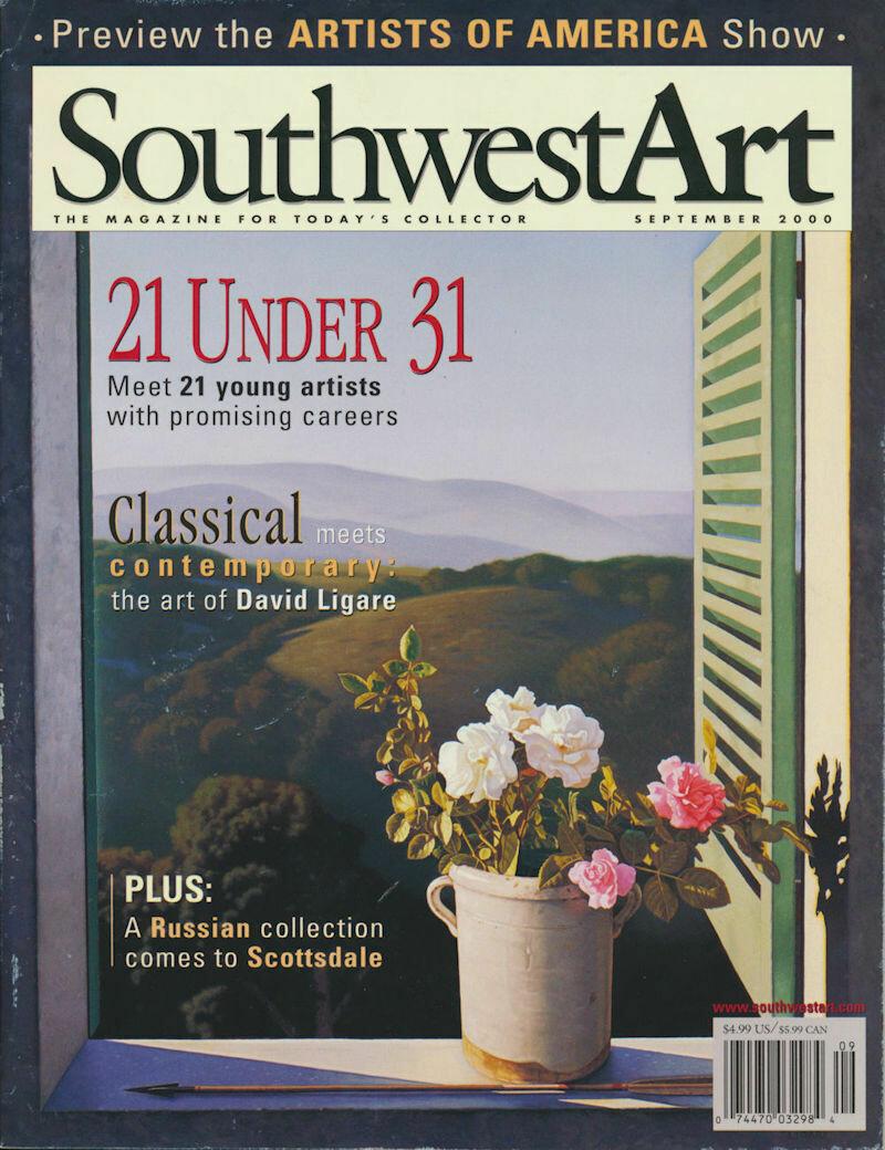 """Southwest Art Magazine """"21 Under 31"""" September 2000"""