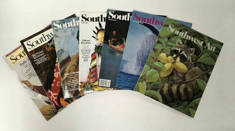 Lot of 7 Southwest Art Magazines Various Issues 1984-1996 Used