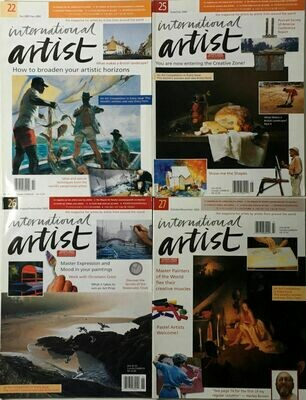 International Artist Magazine - Lot 4 Intl Artist 22, 25, 26, 27 2001-2002