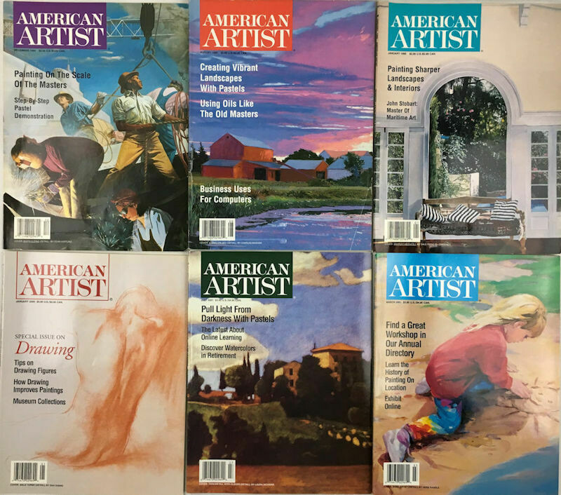 American Artist Magazines 1994-2001 (Lot of 6 Issues)