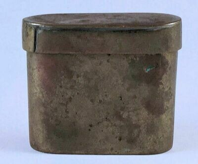 Trench Art Brass Box with Removable Cover