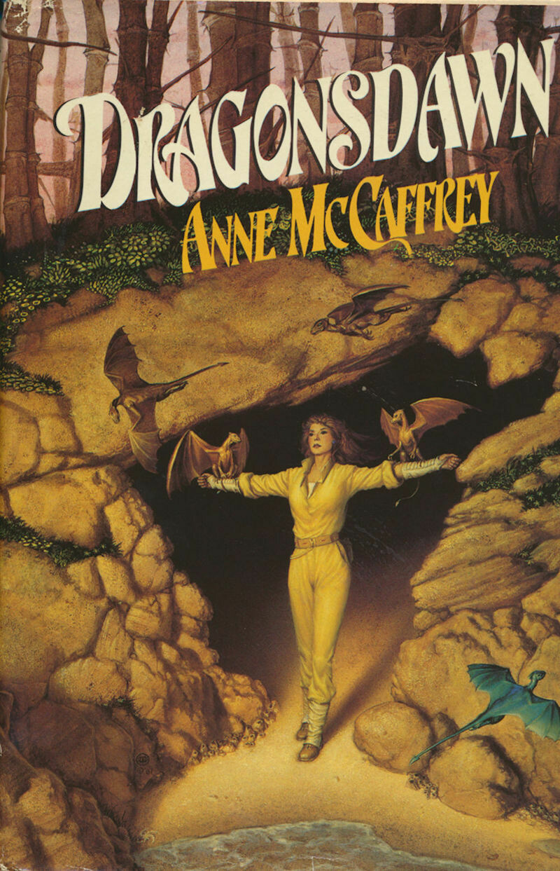 Dragonsdawn by Anne McCaffrey (1988 HC/DJ) Del Rey Book Club Ed