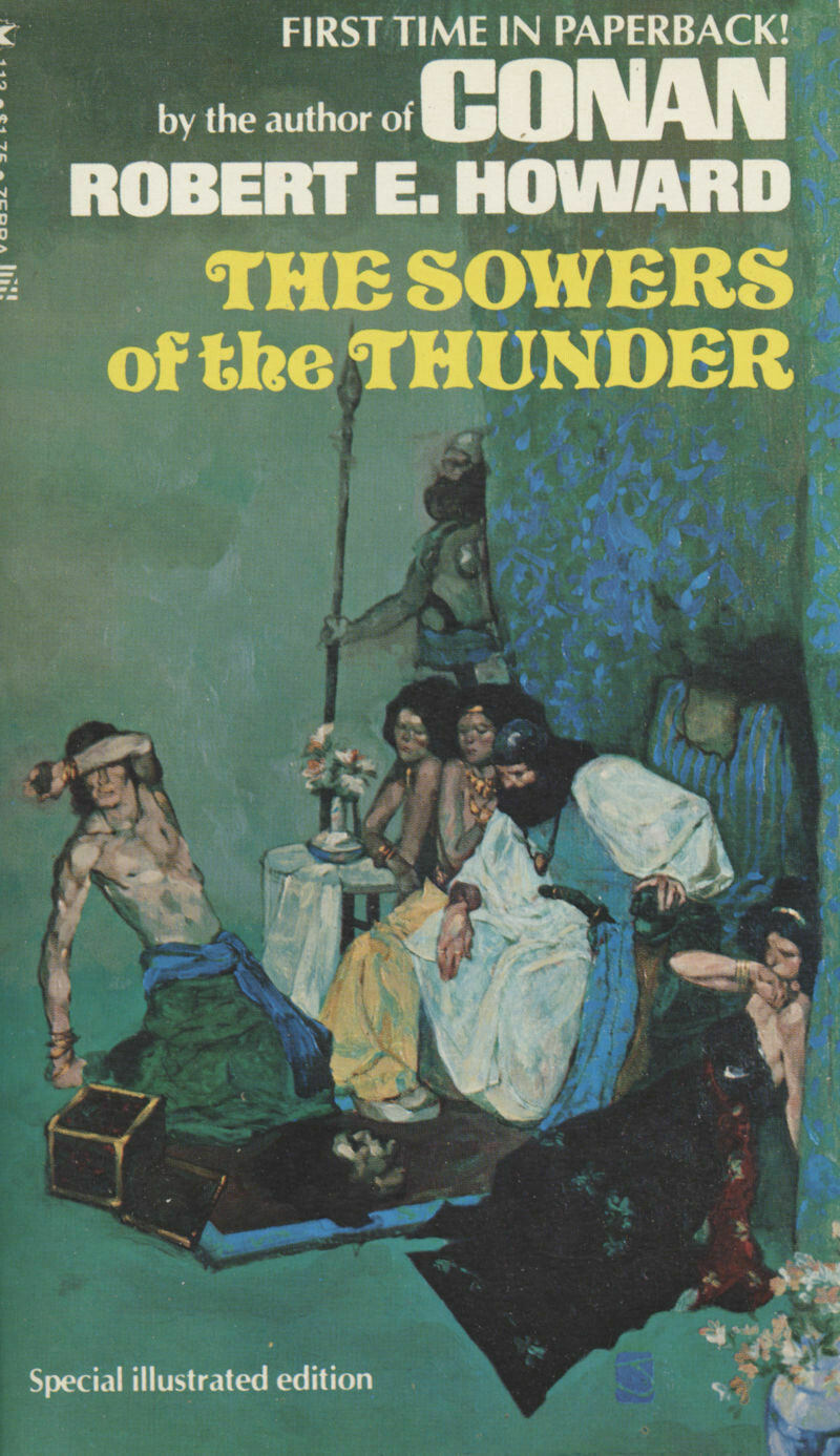 The Sowers of the Thunder - Robert E. Howard 1975 Zebra 1st Printing Softcover
