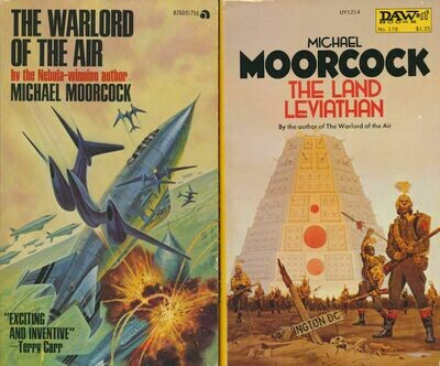 The Warlord of The Air & The Land Leviathan by Michael Moorcock - ACE & DAW 2 Book Lot Softcovers