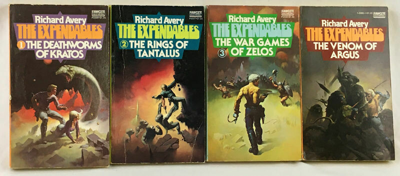 The Expendables Series Richard Avery 4 Book Lot First Printing PB 1975-1976
