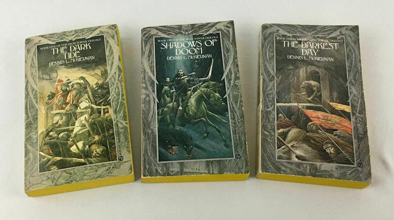 Dennis L McKiernan 3 Book LOT - The Iron Tower Trilogy Paperbacks 1985