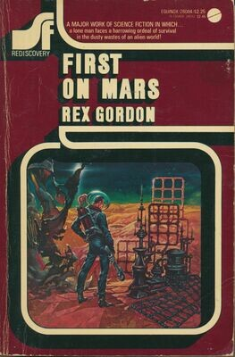 First On Mars by Rex Gordon - Avon Equinox PB 1976 Cover by Kelly Freas