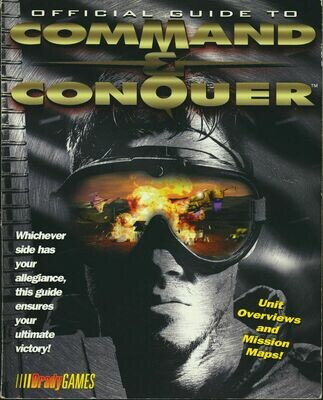 Official Guide to Command and Conquer Brady Games PB 1995