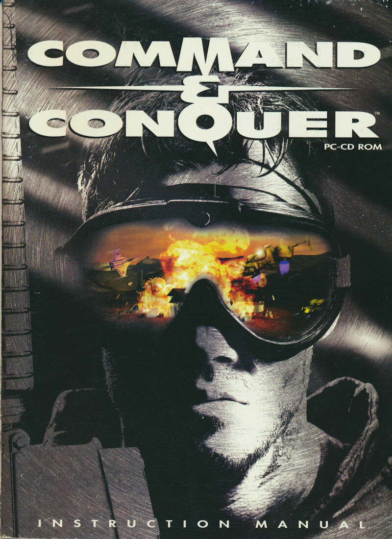 Westwood Command & Conquer Instruction Manual for PC CD ROM Game 1995