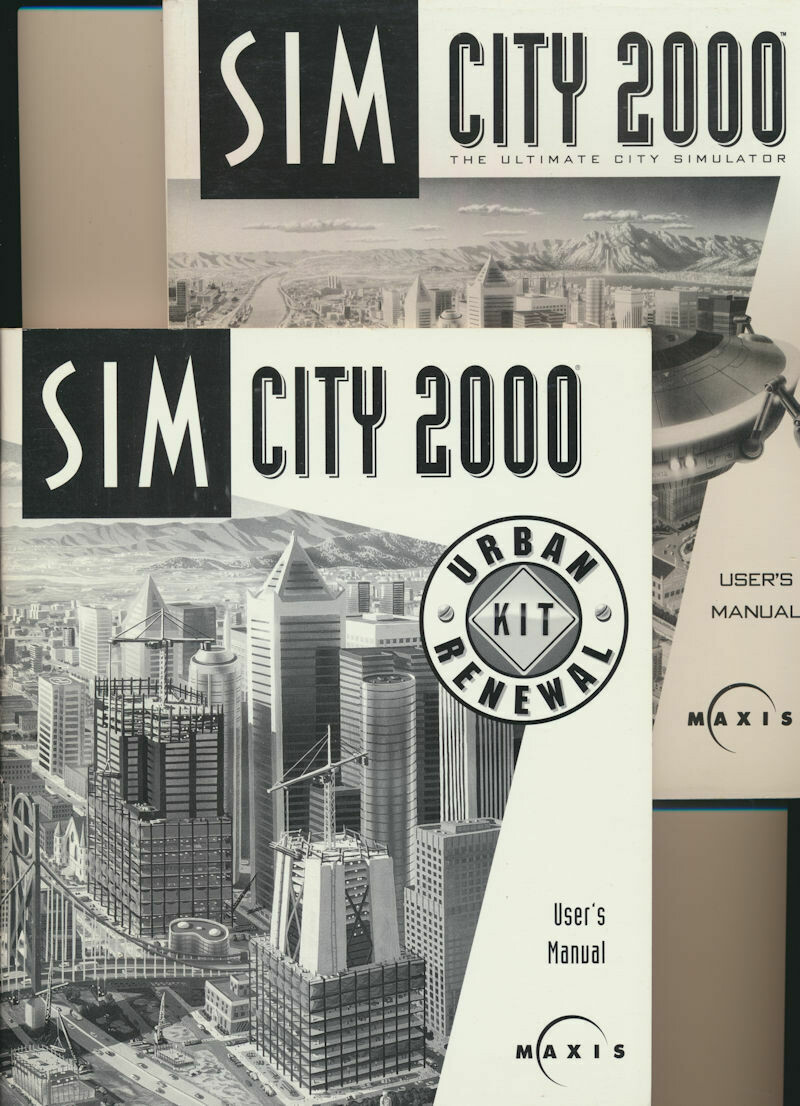 Sim City 2000 Users and Sim City 2000 Urban Renewal Kit Manuals 1994