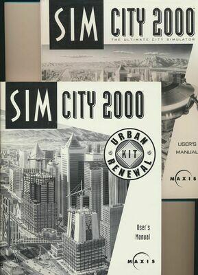 Sim City 2000 Users and Sim City 2000 Urban Renewal Kit Manuals 1994