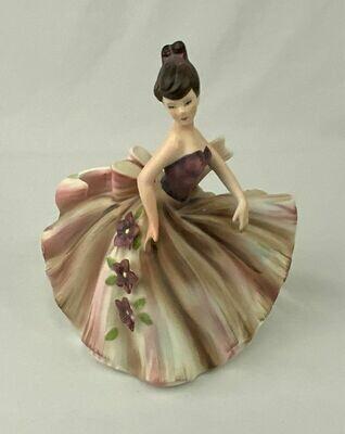 Lefton 8 inch Lady Dressed Figurine Lefton 615B