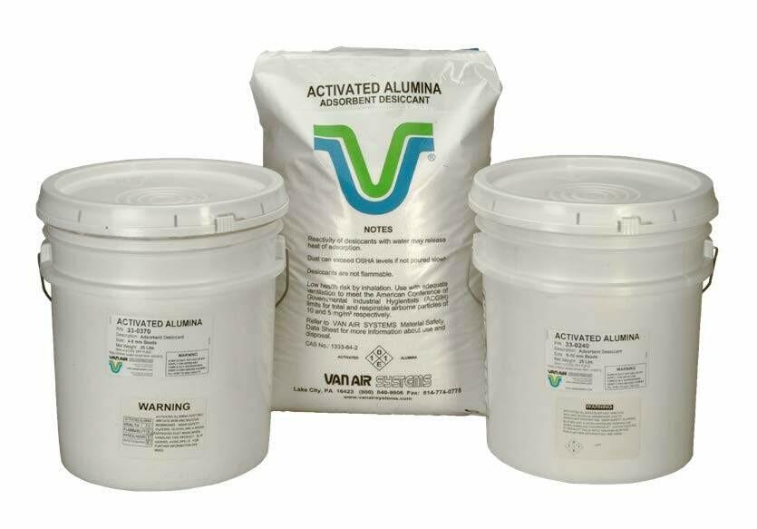 """ACTIVATED ALUMINA 1/4"""" in. (5-10mm) 350 lb drum"""