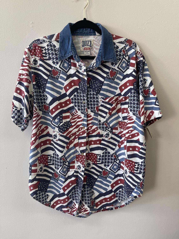 USA Tropical Shirt, Size Medium