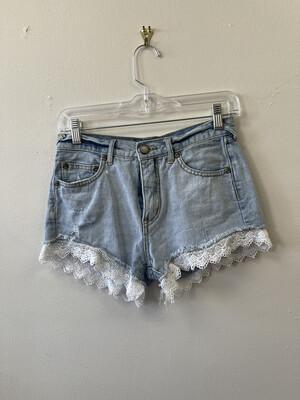 "Free People Shorts, 25"" Waist,  2 inch inseam"