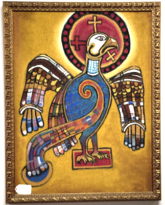 Thunderbird Oil Painting in Style of Northern Plains First People