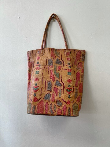 Indian Leather Market Tote