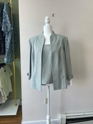 Vintage Perceptions 3-piece Blue-grey Suit, Size 14