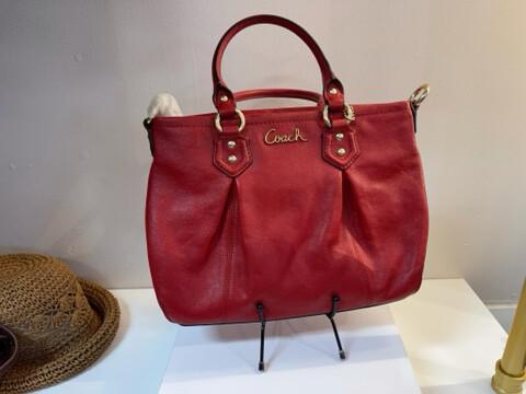 Coach® Red Ashley Mini Tote Bag, NWT