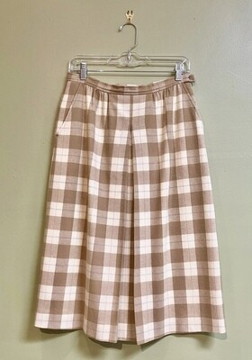 Taupe Pendleton Skirt, Size 14