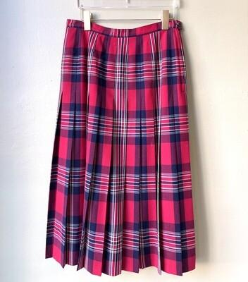 Red Pendleton Skirt, Size 14