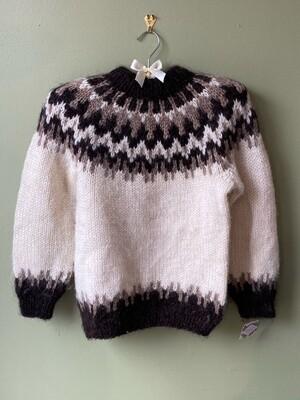 Traditional Icelandic Handmade Sweater, Size S