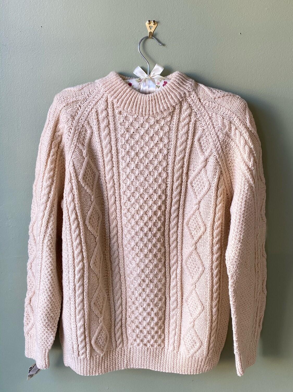 100% Wool, Vintage Sweater, Size M-L