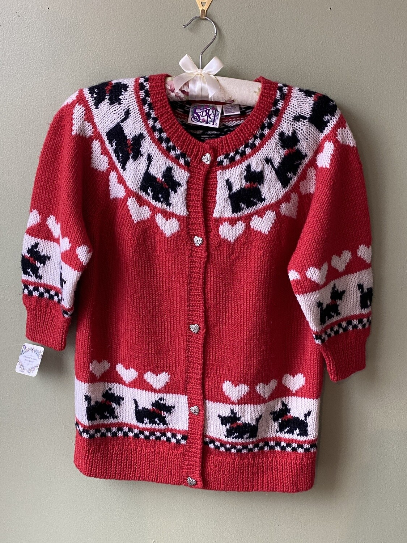 Vintage SBH Scotty Dog Sweater, Size XL
