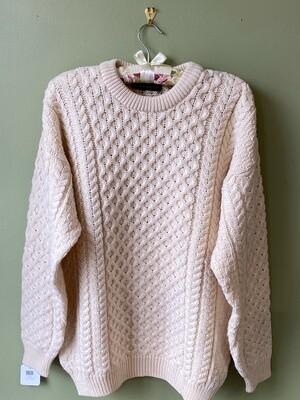 Blarney Woollen Mills Irish Aran-style Sweater, Size L