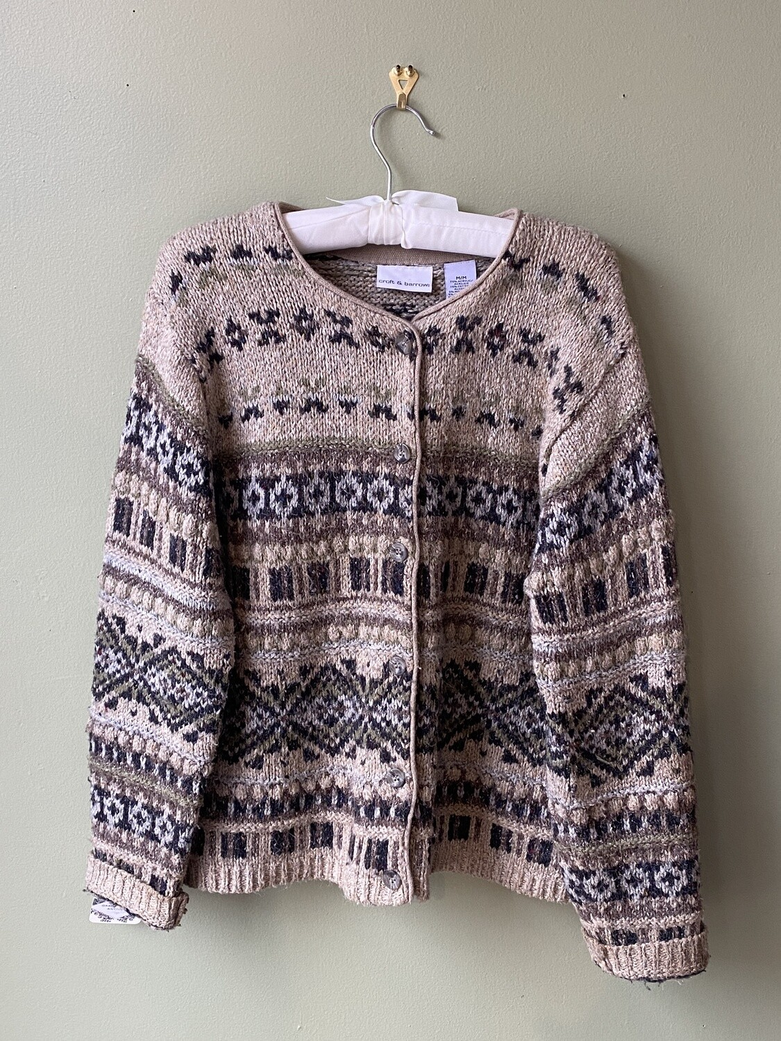 Croft and Barrow Button-front Sweater, Size M
