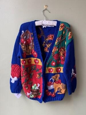"Alexandra Bartlett ""Four-Seasons"" Blue Sweater, Size M"