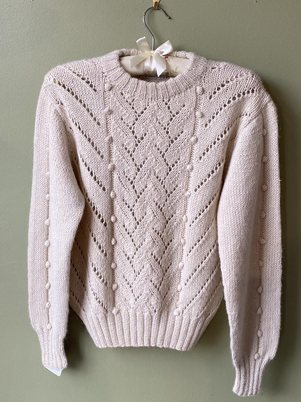 Vintage Hallet Sweater with Pierced Design, Size Estimated M