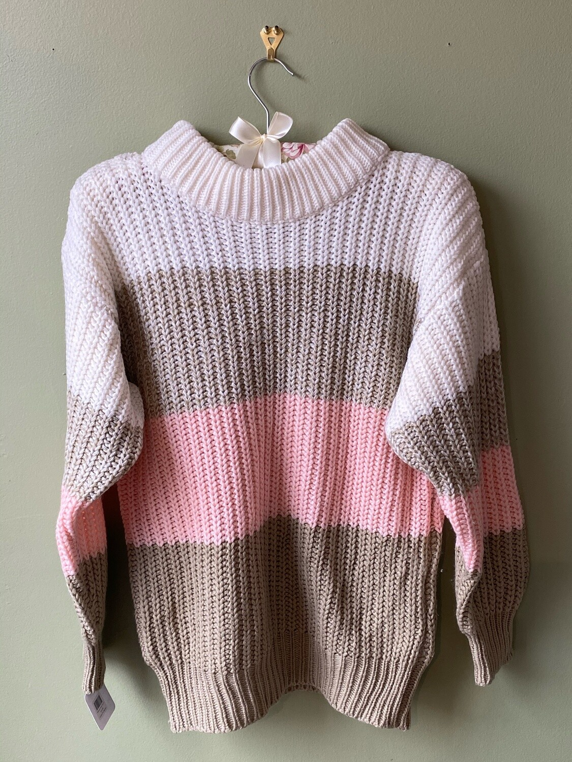 Memphis Jones Color Band Sweater, Size S, AS IS