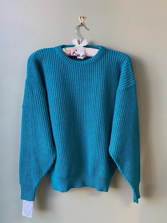 Huntington Ridge Turquoise Sweater, Size M