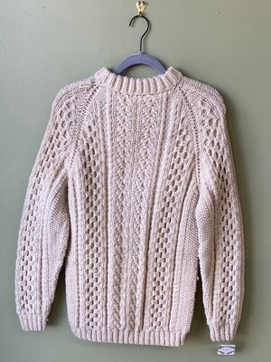 Traditional Woolen Sweater with Drop Sleeve-to-Arm Seams, Estimated Size M/L