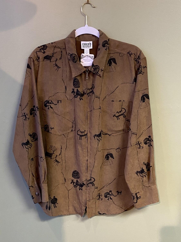 Chico's Design Faux-suede Jacket, Chico's Size 1