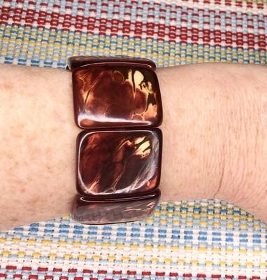 Soraya Cedeño Mahogany-colored Natural Tagua Bracelet