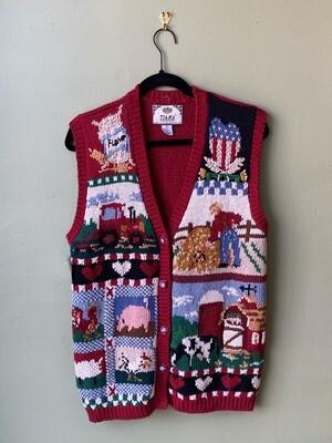 Tiara Farm Sweater Vest, Size M