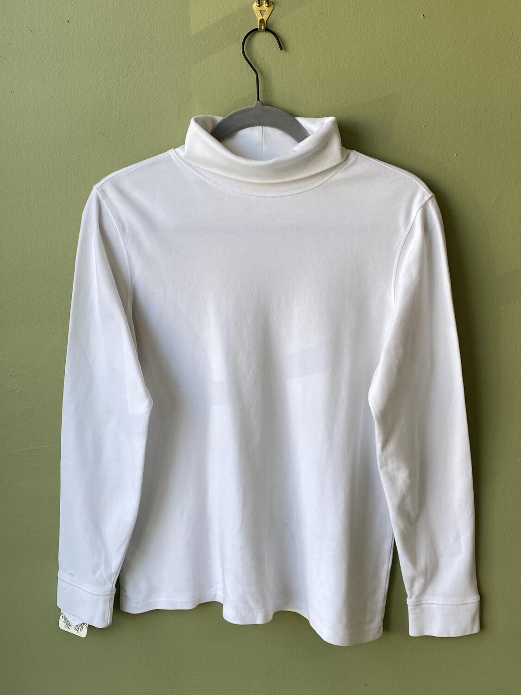 L L Bean White Turtleneck, Size M