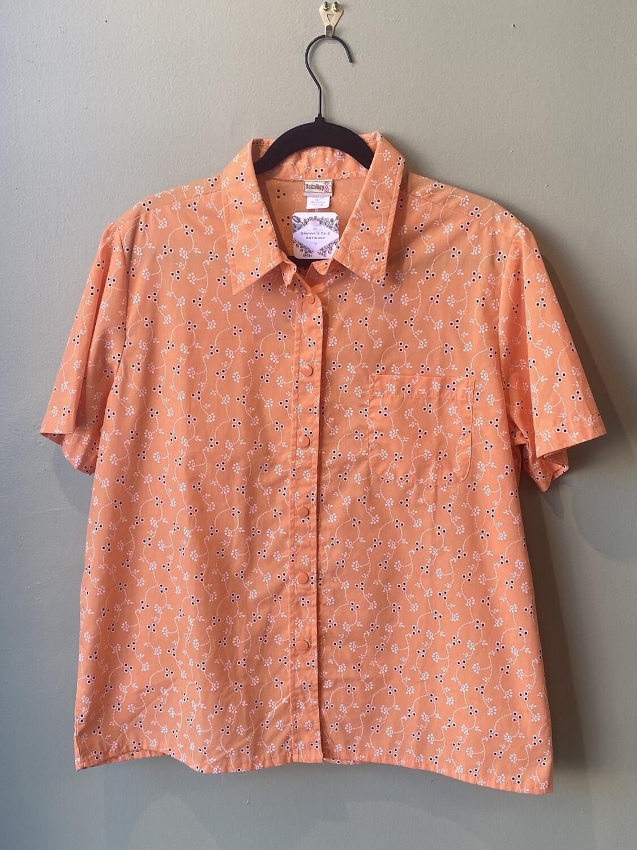 Vintage BocaBay Orange Shirt, Size L