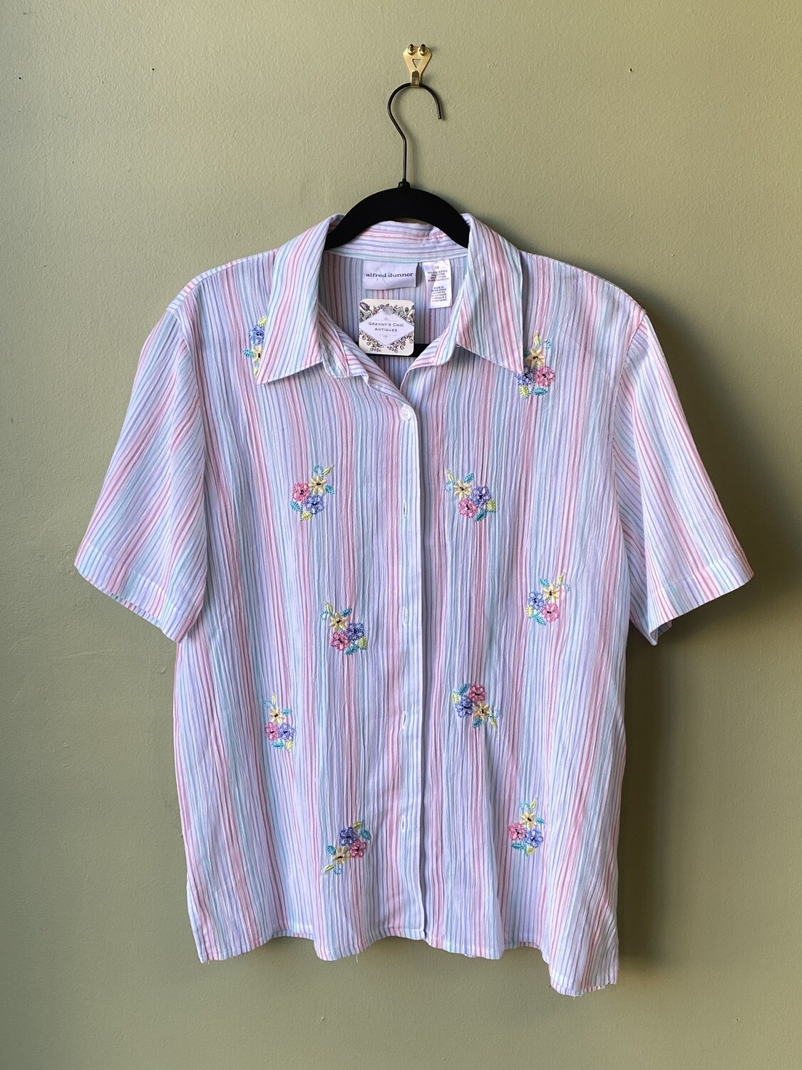 Alfred Dunner Striped Shirt, Size 10