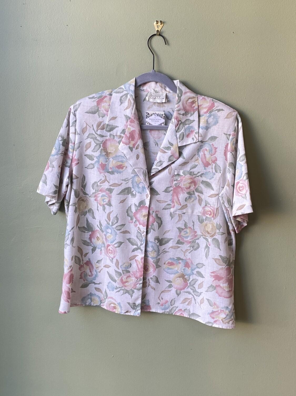 Vintage Jessica Scott Floral Shirt, Size L