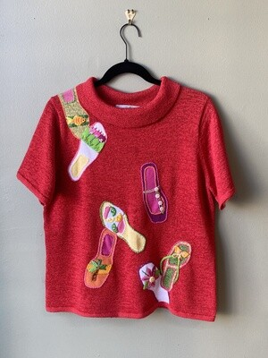 Susan Bristol Flip-Flop Sweater, Size  L
